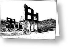 Bank Rhyolite Ghost Ghost Nevada Greeting Card