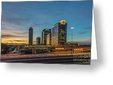 Banking Giants Too Atlanta Midtown Sunset Atlanta Georgia Art Greeting Card
