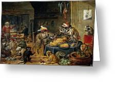Banquete De Monos   Greeting Card