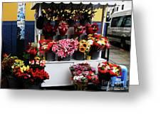 Baranco Bouquets Greeting Card by Rick Locke