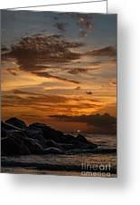 Barbados Sunset Clouds Greeting Card