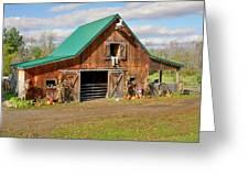 Barn In Autumn Greeting Card