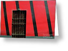 Bars And Stripes Greeting Card by Rick Locke