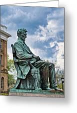 Bascom Hall Lincoln Statue Greeting Card