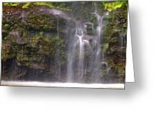 Base Of Waimoku Falls Greeting Card