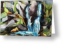 Bash Bish Falls - 3 Greeting Card