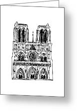 Basilica Notre Dame Greeting Card