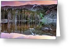 Basin Lake Sunset Greeting Card