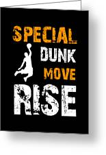Basketball Sports Player Special Dunk Move Rise Gift Idea Greeting Card
