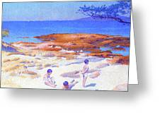 Beach At Cabasson - Digital Remastered Edition Greeting Card