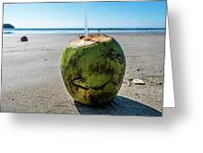 Beach Coconut Greeting Card