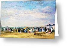 Beach Of Trouville - Digital Remastered Edition Greeting Card