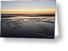 Beach Sunset, Blackpool, Uk 09/2017 Greeting Card