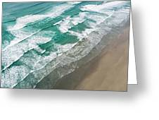 Beach Waves From Above Greeting Card