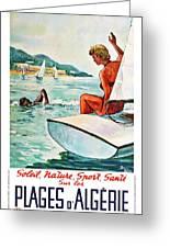 Beaches In Algeria Greeting Card