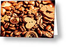 Beans And Buttons Greeting Card