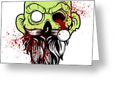 Bearded Zombie Undead With Beard Halloween Party Light Greeting Card