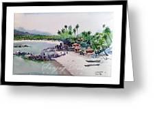 Beautiful Beach In Goa India Greeting Card