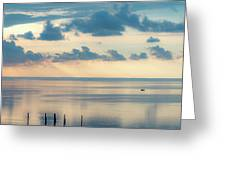 Beautiful Clouds Over Pamlico Sound Greeting Card