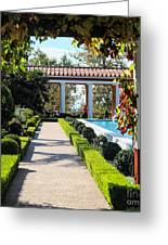 Beautiful Courtyard Getty Villa  Greeting Card