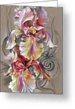 Beautiful Fantastic Realistic Flowers Greeting Card