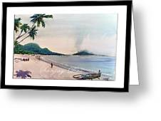 Beautiful Goa Beach Greeting Card