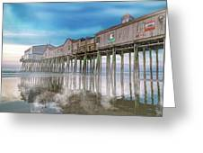 Beautiful Pier Maine Morning Greeting Card