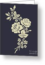 Beautiful Rose Flowers On The Dark Greeting Card