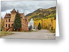 Beautiful Small Town Rico Colorado Greeting Card