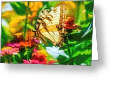 Beautiful Swallow Tail Butterfly Greeting Card by Don Northup