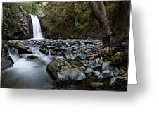 Beautiful Waterfal, Troodos Mountains, Cyprus Greeting Card by Michalakis Ppalis