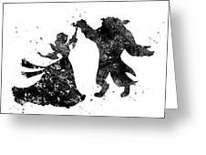 Beauty And The Beast Dancing Greeting Card