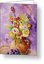 Beauty On Bouquet Greeting Card