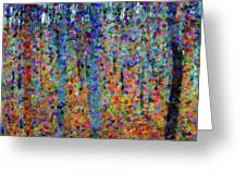 Beech Grove Abstract Expressionism Greeting Card
