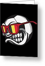 Belgium Angry Soccer Ball With Sunglasses Fanshirt Greeting Card