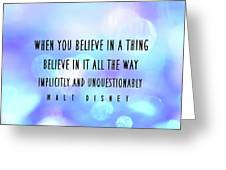 Believe Big Quote Greeting Card