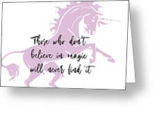 Believe In It Quote Greeting Card