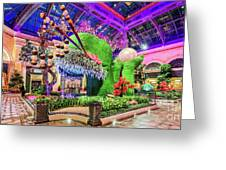 Bellagio Conservatory Spring Display Front Side View Wide 2018 2 To 1 Aspect Ratio Greeting Card