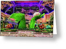 Bellagio Conservatory Spring Display Ultra Wide 2 To 1 Aspect Ratio Greeting Card