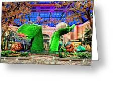 Bellagio Conservatory Spring Display Ultra Wide Trees 2018 2 To 1 Aspect Ratio Greeting Card
