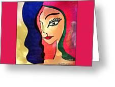 Belle Dame Greeting Card by Rachel Maynard