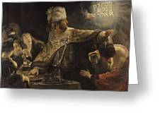 Belshazzar S Feast  Greeting Card