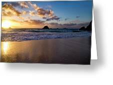 Bermuda Beach Sunrise Greeting Card