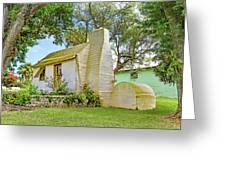 Bermuda Botanical Gardens Cottage Greeting Card