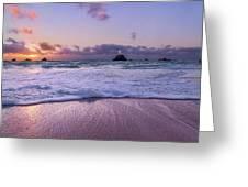 Bermuda Sunrise Welcome To Heaven Crossbay Beach Greeting Card