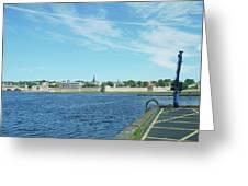 Berwick Upon Tweed, River And City Walls Greeting Card