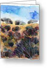 Beyond The Hills Greeting Card