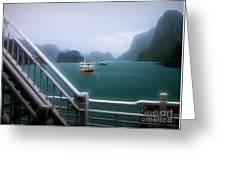 Bhaya Cruise Line Ha Long Bay  Greeting Card