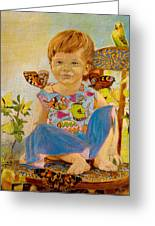 Bianka And Butterflies Greeting Card
