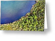 Big Bay Bear Lake Aerial Greeting Card
